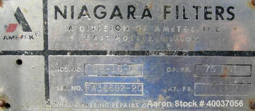Used- Niagara Horizontal Plate Filter, Model 18-16-D