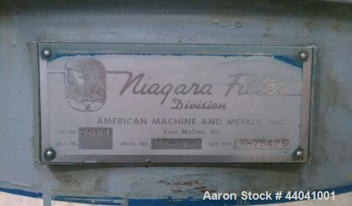 Used- Niagara Batch Miser Horizontal Plate Filter, Model 18-16-D