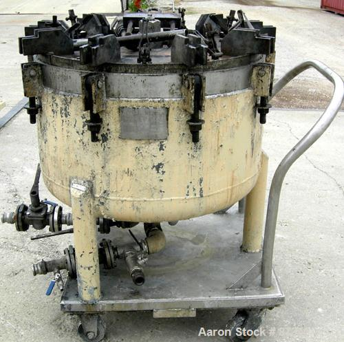 USED: Niagara horizontal plate filter, model 33-8D-S/J, 316 stainless steel. 50.80 square feet filter area, 6.61 cubic feet ...