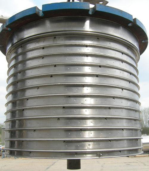 "Used- Niagara Horizontal Plate Filter, Hastelloy C-276, approximately 74 square feet of filter area.  Vertical tank 36 1/2"" ..."
