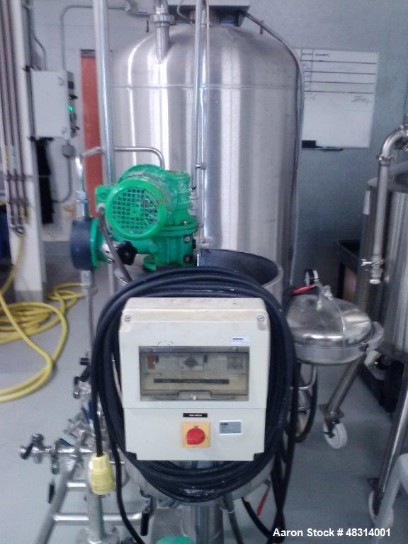 Used- Padovan Pressure Leaf Filter, Model G9. Sanitary stainless steel, 8.60 square meter (90 square feet) centrifugal dry c...