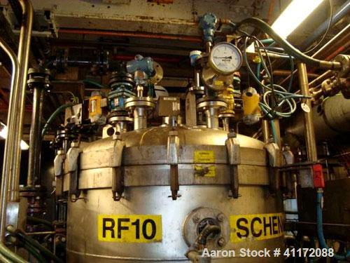 Used- Schenk Centrifugal Discharge Pressure Filter, Type SHF-SR-20-8KL/B2, Hastelloy C22. Approximately 8 square feet filtra...