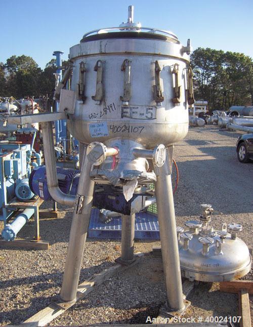 Used- Stainless Steel Schenk Centrifugal Discharge Pressure Filter, Model ZHF-SR7-KLKB1