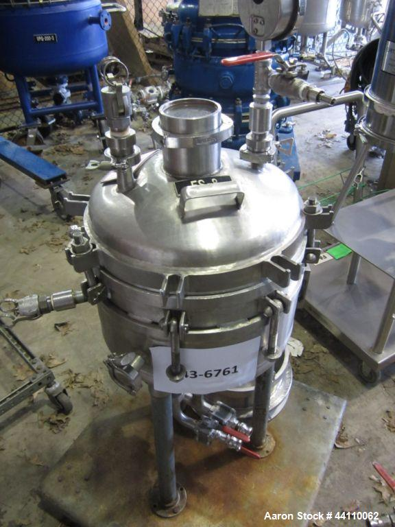 "Used- Sparkler Filter, 316/304 SS, 14"" Spec, ??? Sq. Ft. Built 1980, S # 21394, NB # 1693, rated 60 @ 350 internal, 30 @ 350..."