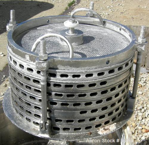 USED: Sparkler horizontal plate filter, model 14S7, 316 stainless steel. 5.6 square feet filter area, .38 cubic feet cake ca...