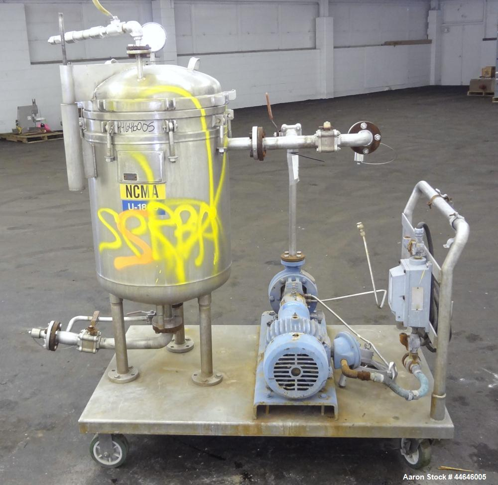 Used-Sparkler Filter, Model 18 D 10, approximately 16 square feet, 316 stainless steel.  Internal rated 60 psi at 350 degree...