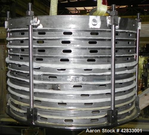 Used- Stainless Steel Sparkler Filter Horizontal Plate Filter, Model 18-S-11