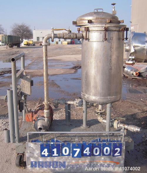Used- Stainless Steel Sparkler Filter Horizontal Plate Filter Tank Only, Model 18-S-304