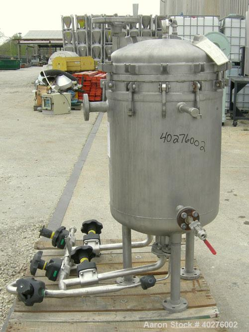 Used- Sparkler Filters Inc horizontal plate filter, model 18D10, 316L stainless steel.  Approximate 12.81 square foot filter...
