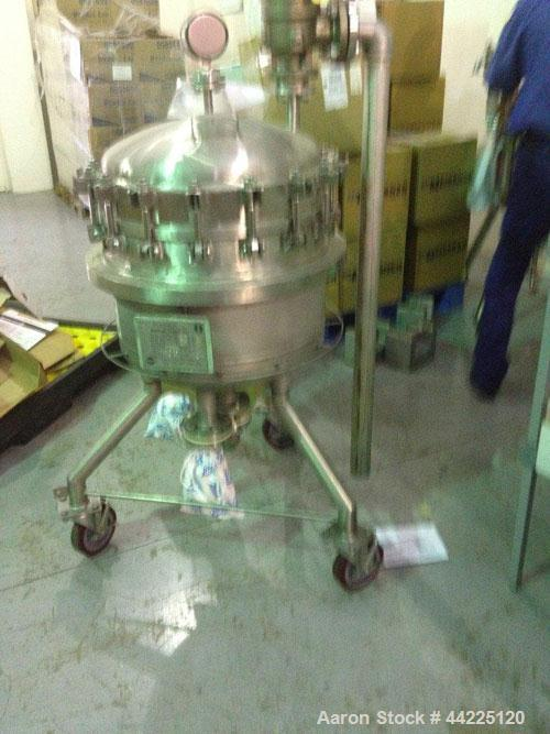 Used- Sparkler Reverse Flow Filter, Model 18S7RF. 316 Stainless steel construction. Internal rated 150 psi and full vacuum a...