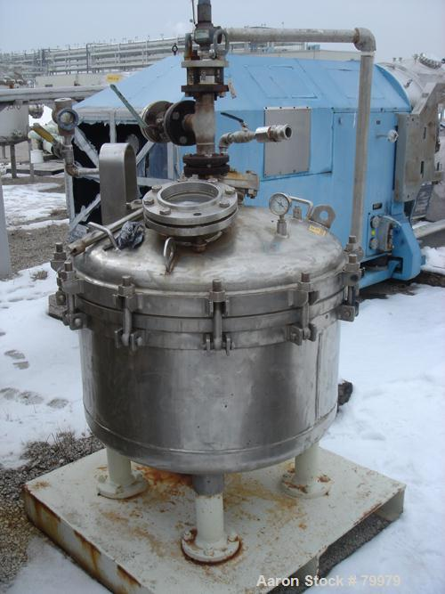 "USED: Sparkler Filter, model 36 SPEC. 316 stainless steel, 36""  diameter, vertical tank, unit requires horizontal leaf. Inte..."