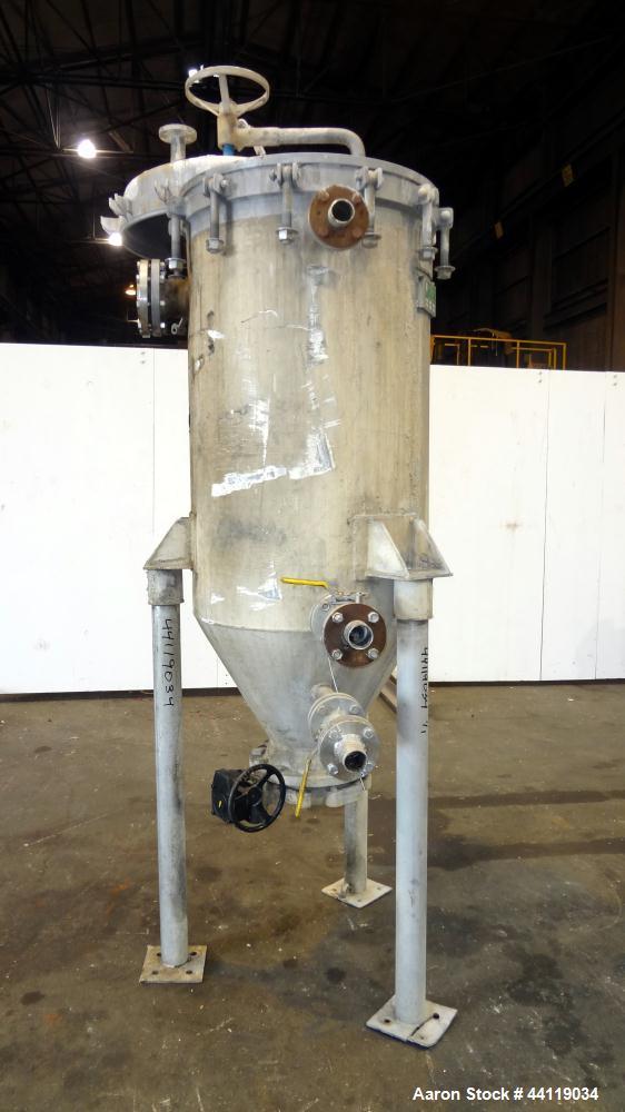 Used- Sparkler Vertical Plate Filter, Model VF-B-70, 316 Stainless Steel. Unit converted to a model VF-B-92, approximate 92 ...