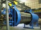 Used- Rebuilt Industrial Pressure Leaf Filter, Model D