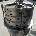 Used- Sparkler Horizontal Plate Filter, Model 14-D-4, 316 stainless steel. Approximate 3.52 square feet filter area, .445 cu...