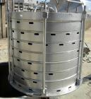 USED- Sparkler Horizontal Plate Filter, Model 18S15, 304 Stainless Steel. 12.3 square feet filter area, 1.8 cubic feet cake ...