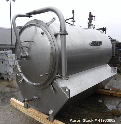 Used- United States Filter Auto-Jet Self-Cleaning Pressure Leaf Filter, 600 square feet filter area, model 600, 304 stainles...