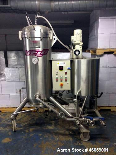 Used- Velo Acciai D.E. Filter, Model FVR 5. Horizontal disks, stainless steel construction. Includes: internal final filteri...