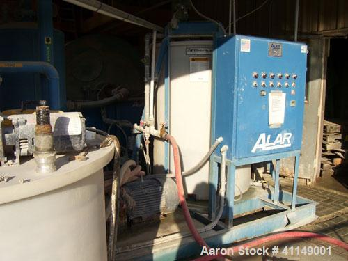 Used-Alar Water Reclamation System, Model 640.6' drum diameter, 4' long drum, 75.4 square foot nominal filtering area, 33 hp...