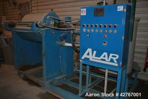 Used-Alar Rotary Vacuum Filter, Auto-Vac 230 with receiver, type 1A recirculation system, Carbon Steel construction. Filter ...