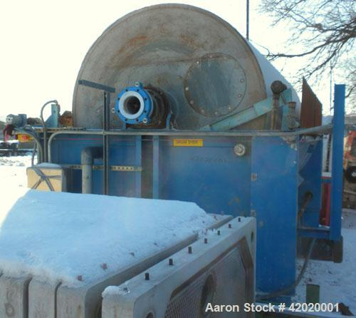 Used- Alar Auto-Vac Rotary Drum Pre-Coat Vacuum Filter, 226 square feet filter area, model 6120, carbon steel. Drum 72'' dia...