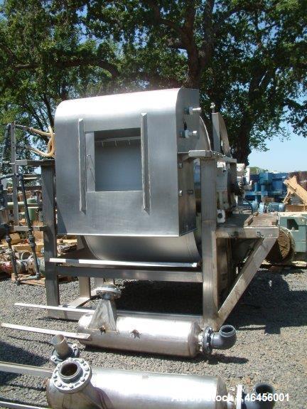 Used- Ametek Rotary Vacuum Filter. 6' x 4', stainless steel drum. Drum speed 3.83-34.5 RPM. Left hand unit, precoat depth ga...