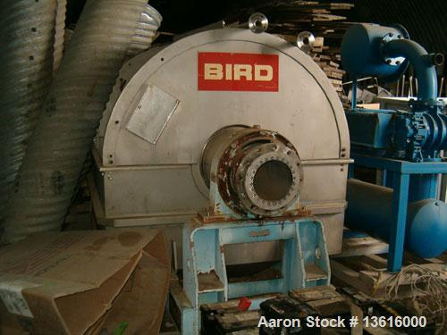 "Used-Used: Bird-Young Vacuum Filter, Model F10-F-6-1001, 1990, stainless steel. Drum area 50 square feet, 50"" diameter x 52""..."