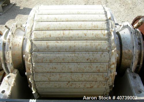"""Used- Bird Young Rotary Vacuum Filter, 316 stainless steel. Approximately 3 square feet filter area. 18"""" diameter x 12"""" face..."""