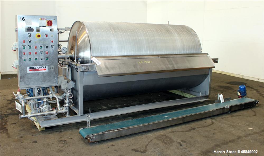 Used- Della Toffola horizontal rotary vacuum filter