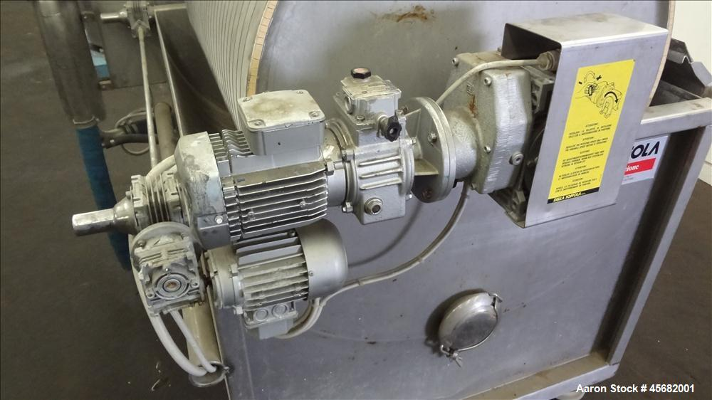 Used- Della Toffola Rotary Vacuum Filter, Model V2.5