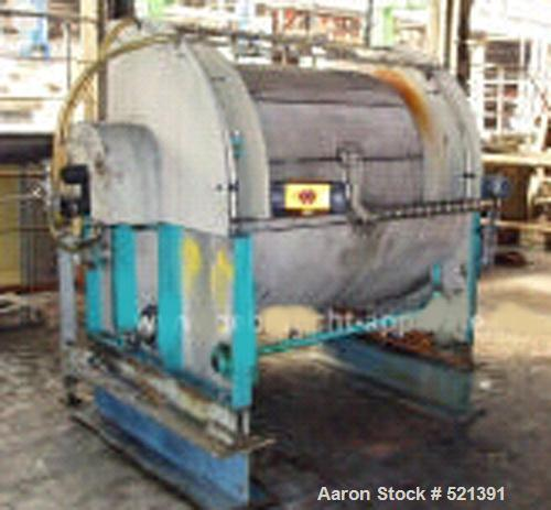 "USED: Dorr Oliver rotary vacuum filter, 4 sq meter. Material ofconstruction is 316Ti (1.4571) stainless steel. 3'9"" diameter..."