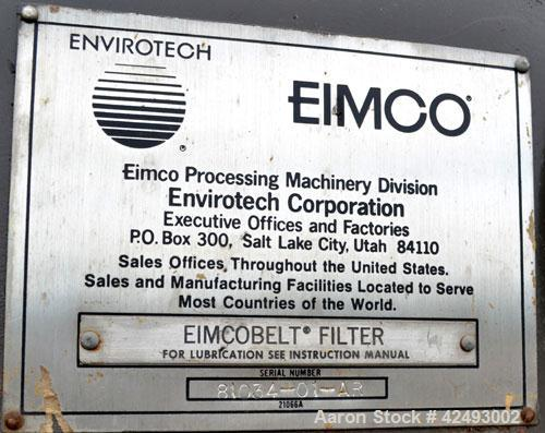 Used- Eimco Sanitary Eimcobelt Rotary Vacuum Filter, 376 Square Feet Filter Area, Carbon Steel. Drum 144'' diameter x 120'' ...