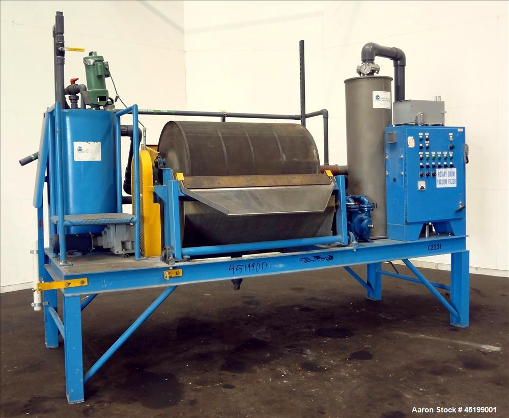 Used- Great Lakes Environmental Rotary Drum Vacuum Filter, 301 Stainless Steel D