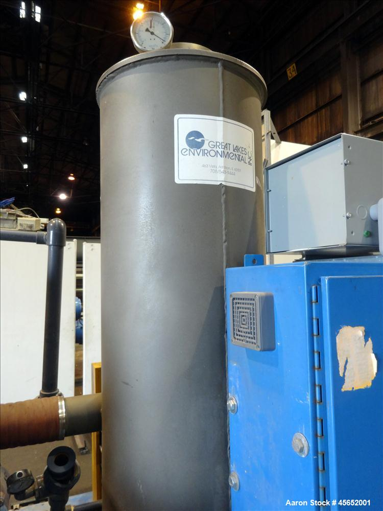 Used- Great Lakes Environmental Rotary Drum Vacuum Filter, 301 stainless steel drum. Approximately 37.7 square feet filter a...