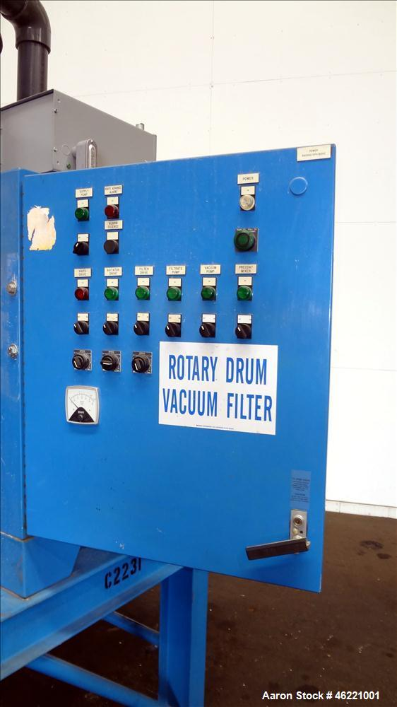 Used- Great Lakes Environmental Rotary Drum Vacuum Filter