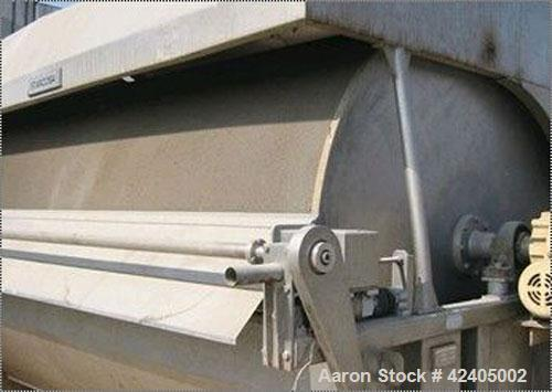 Used-Hovex-Holland Rotary Vacuum Filter, type F2000-320. Material of construction is 316L stainless steel. Surface area: 185...