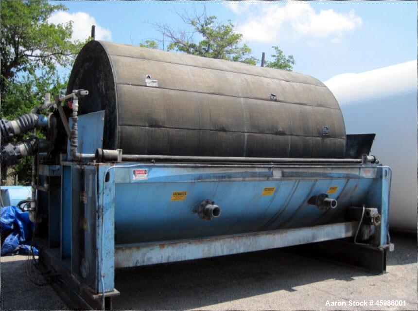 Used- Komline-Sanderson Rotary Vacuum Precoat Drum Filter, Model I-1322