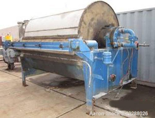 "Used-Komline Sanderson Rotary Vacuum Precoat Filter System, Model KS-1-585, Carbon Steel.Approximately 72"" diameter drum x 9..."