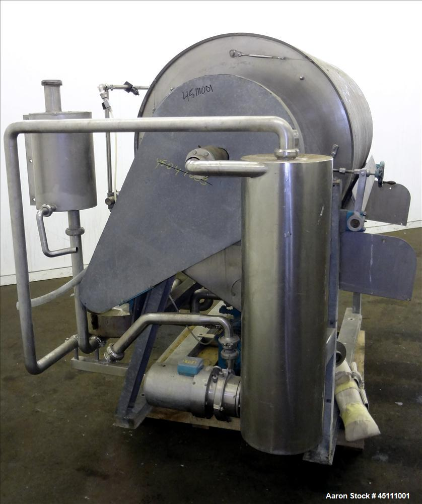 Used- Stainless Steel Larsson Rotary Vacuum Filter
