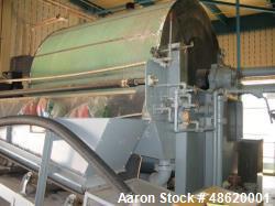 "Used- Eimco ""Eimcobelt"" Carbon Steel Rotary Vacuum Filter"