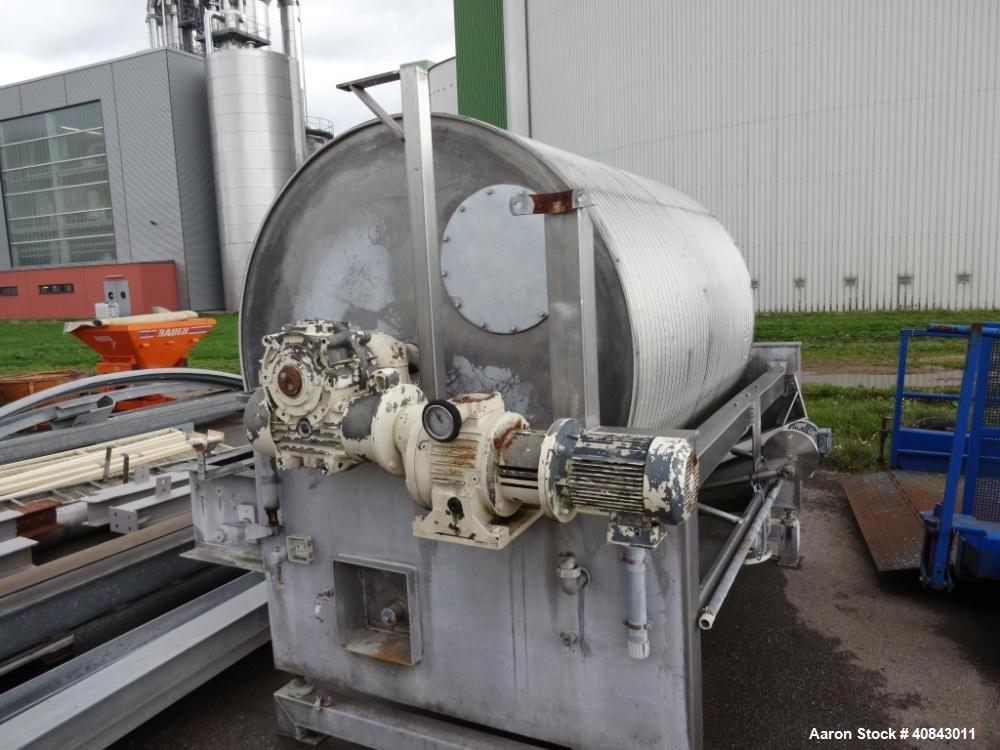 Used- Stainless Steel Nivoba Rotary Vacuum Filter, 160-10