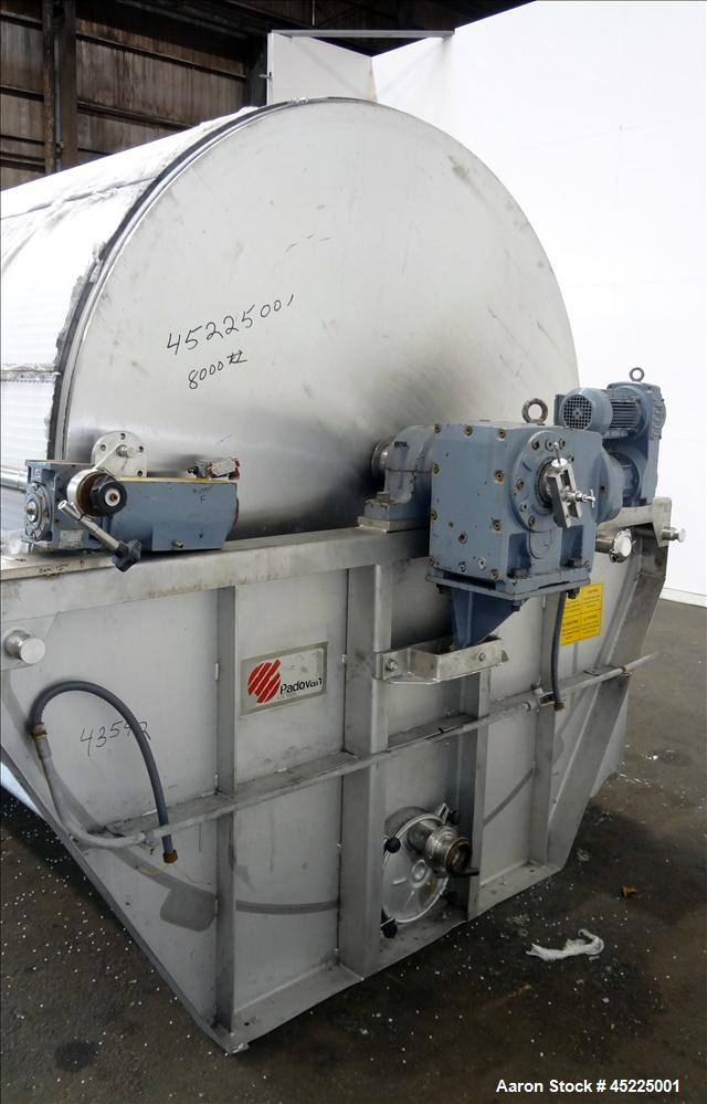 Used- TMCI Padovan Taylo Pre-Coat Rotary Vacuum Filter