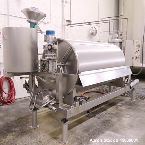"Used- Padovan Rotary Drum Filter, Stainless Steel. Diatomaceous Earth. Approximately 65 square feet.  Roll dimensions 39.5"" ..."