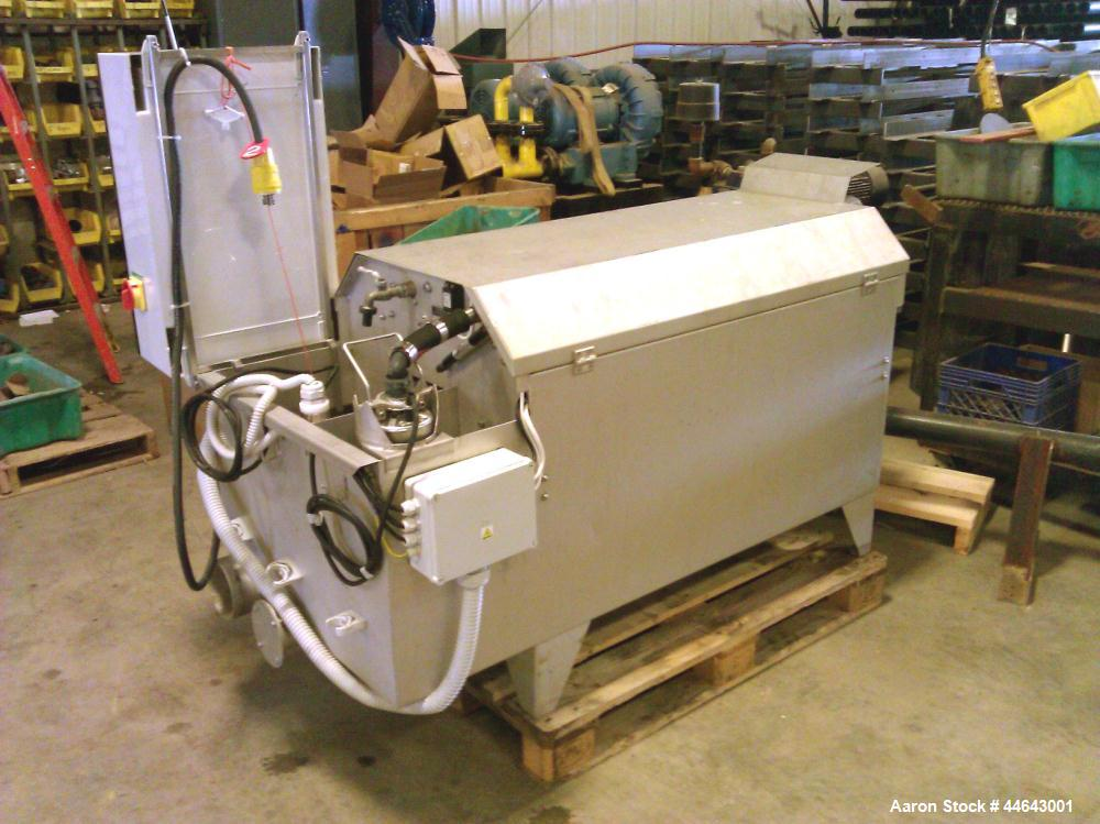 Used- Purestream ES Microscreen Stainless Steel Drum Filter, Model 5-BMF-10-0