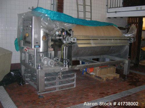 Used-Seitz Vacuum Filter, 316 stainless steel. Filter size 64.6 square feet (6 square meters) with a 4.5 hp/3.5 kW motor and...