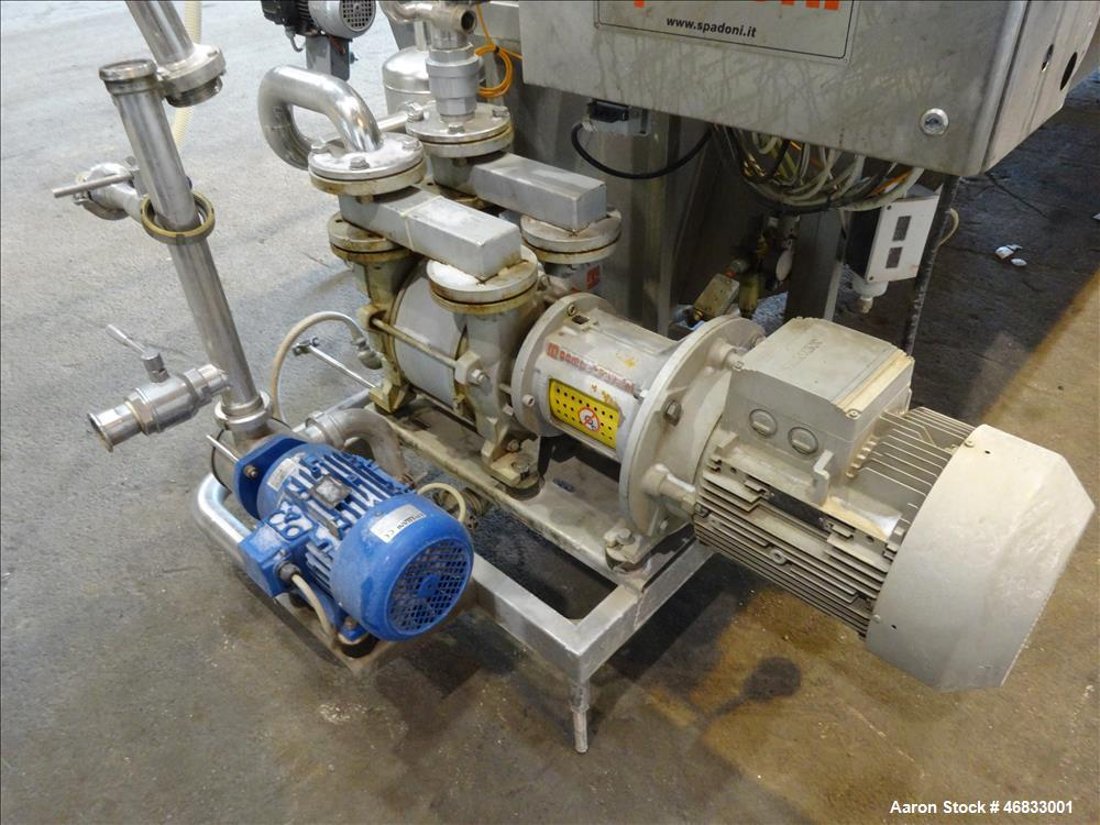 Used- Spadoni Rotary Vacuum Filter, Model ASSO 15, 161 Square Feet