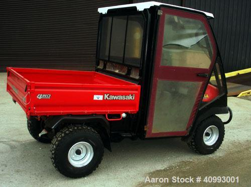Used- 2001 Kawaski Mule, Model 3010, 4WD, 1573 hours, Brakes and tires are still in good condition.    Thic unit comes with ...