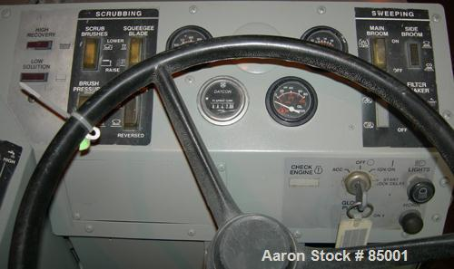 """USED: American Lincoln 54"""" wide floor scrubber, LP gas, 4 cylinder engine with a total of 647 hours. Scrubber has been clean..."""