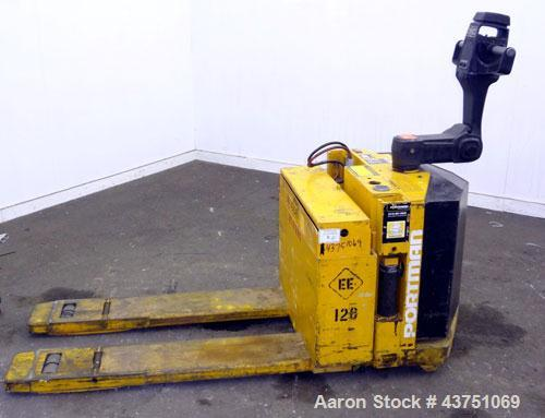 """Used- Big Joe Electric Walk Behind Pallet Truck, Model WPT-40-48. Lifting capacity 4000 pounds at 24"""" load center. 24 Volt. ..."""