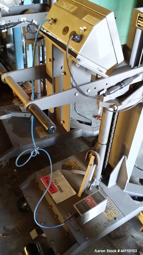 Used- 700 lb Drum Pallet Jack with Siulei Easy Lift Equipment, Model EL7005LSP-IS