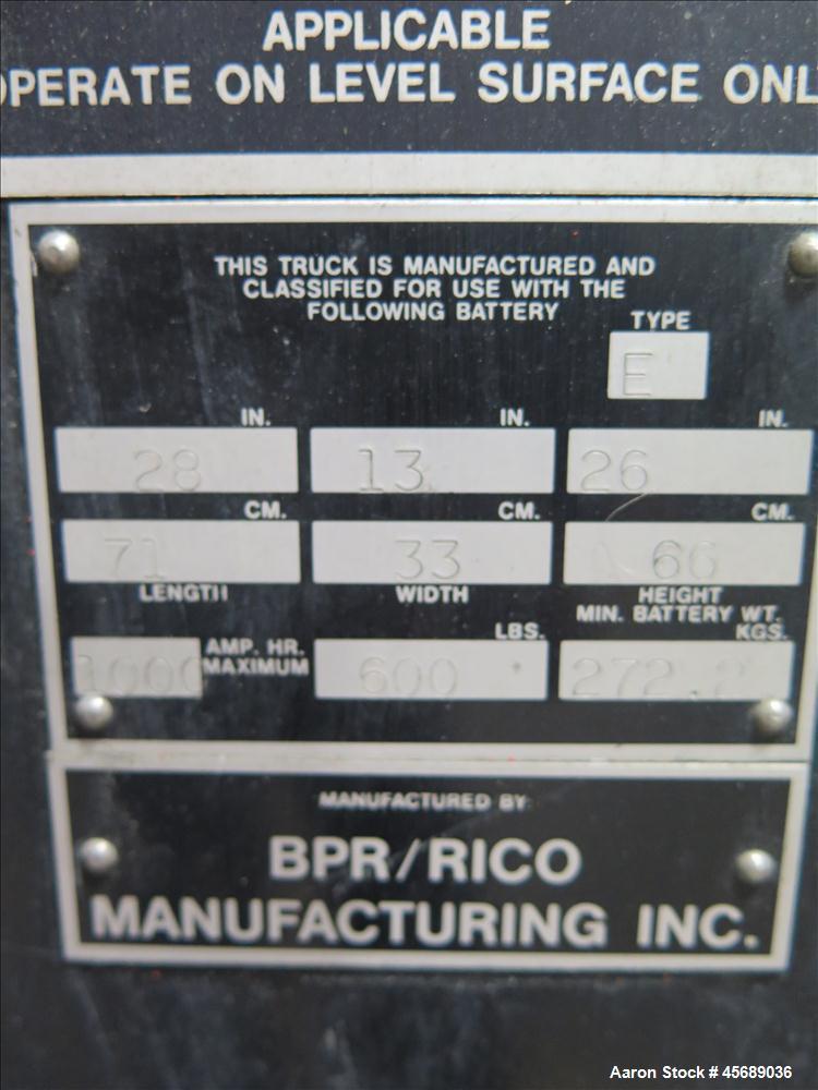 Used- Rico Lift, Model HLS60.  6000 Pound Capacity.